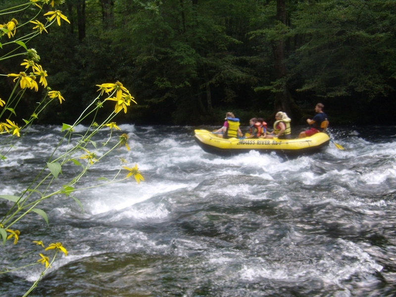 Nantahala River Rafting in the western NC mountains