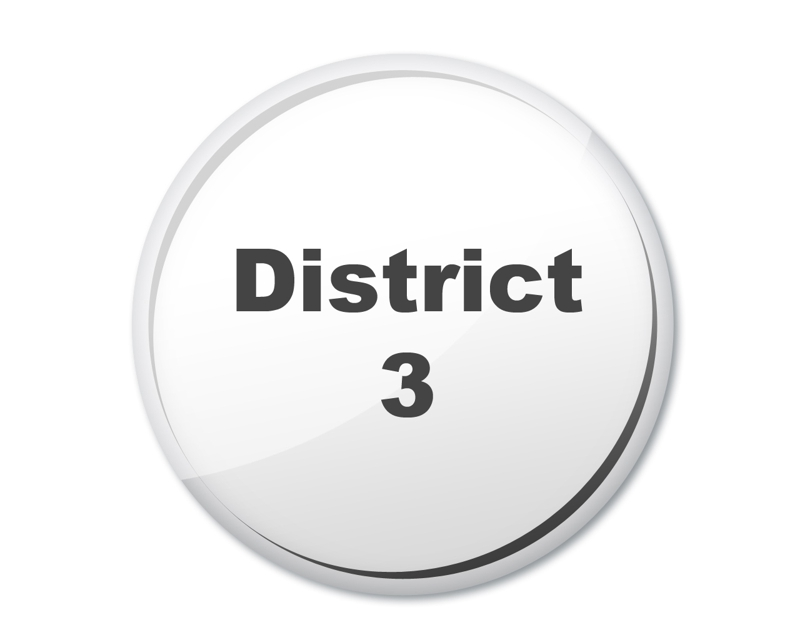 district 3 button