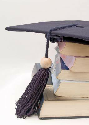 Books and graduation hat