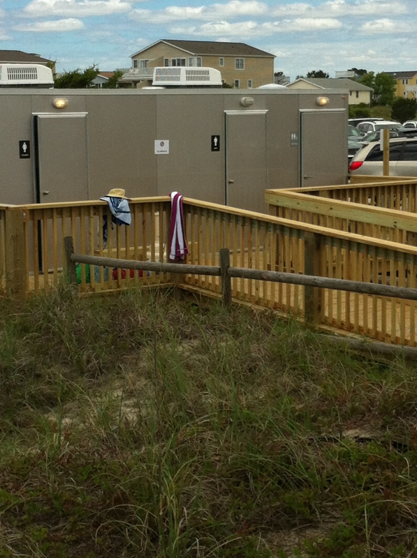 New toilets at Sunset Beach, NC
