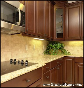 How to coordinate your granite countertops and tile for Kitchen countertops and cabinet combinations