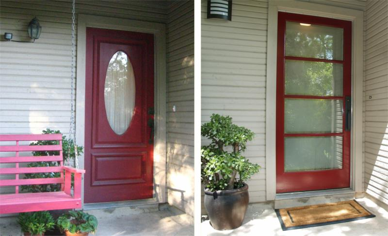 Condo Before And After Entry Door