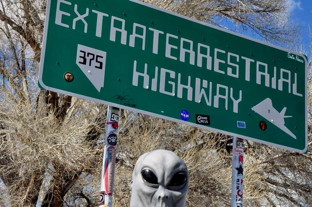 Alien Sighted at Rachel Nevada - photo by Robert Swetz 2011