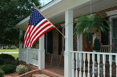 VA Home Loans Flag On Porch