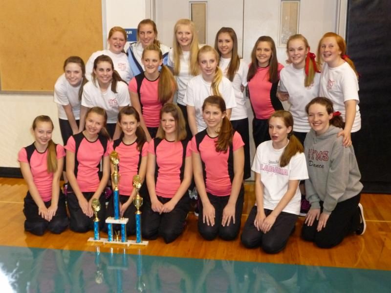 Middle school dance team wins trophies at the alabama dance