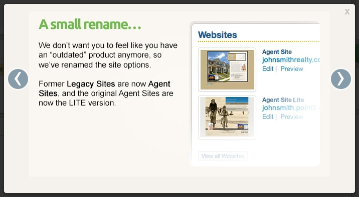 Name Change for Point2 Agent Websites