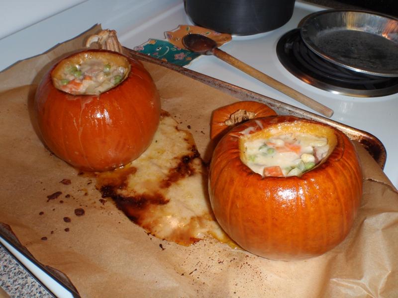 pumpkin stew before baking