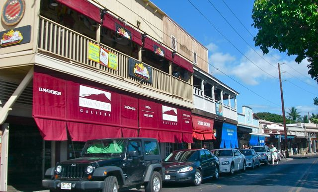 Front Street in Lahaina Maui Hawaii - art galleries and shops