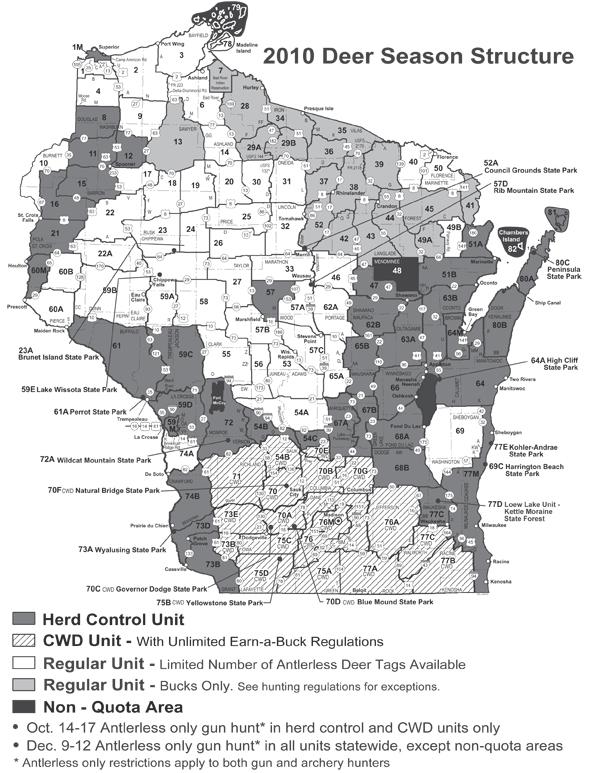 Alfa Img  Showing Gt Wisconsin Deer Zone Map