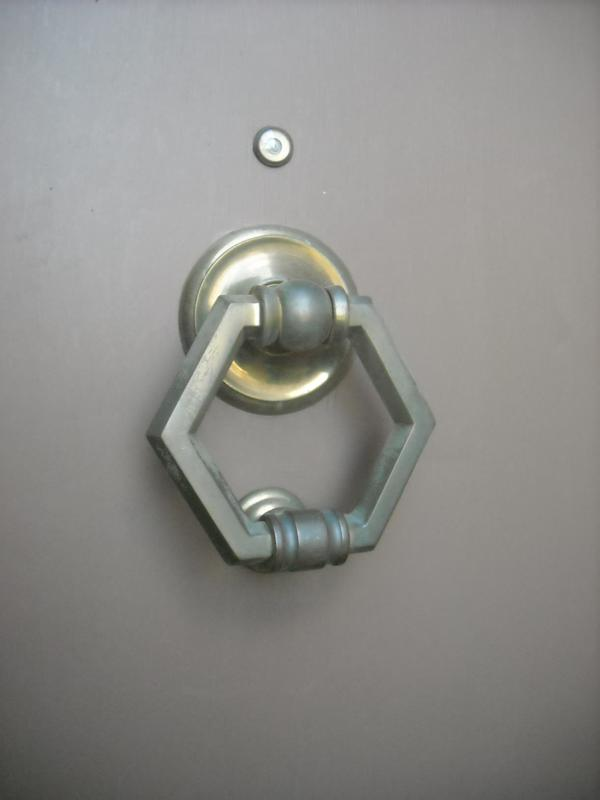 door knocker before