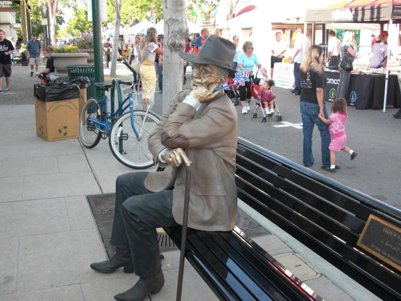 Chatting Man Statue, Pleasanton, Ca