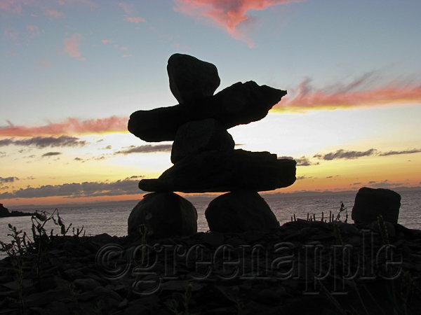 Inukshuk at Sunset
