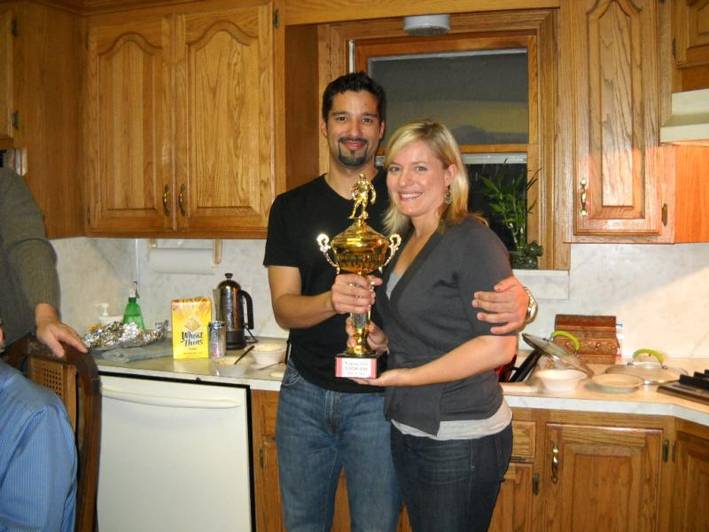 Chili cook-off winner, Alex and fiance Barbra