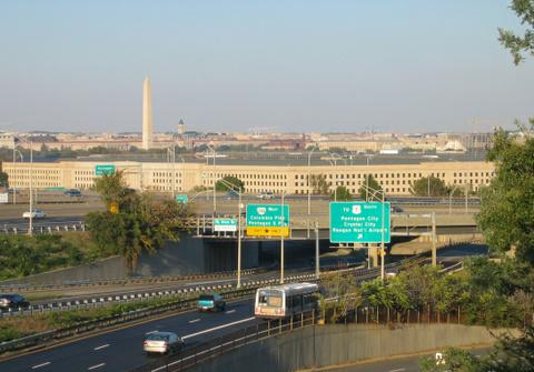 Pentagon with DC skyline