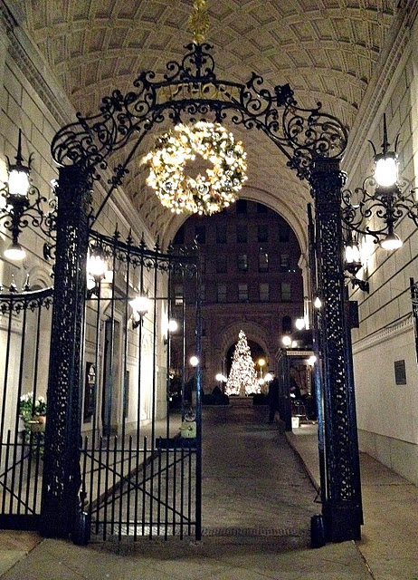 Apthorp Apartment -Gate at Christmas