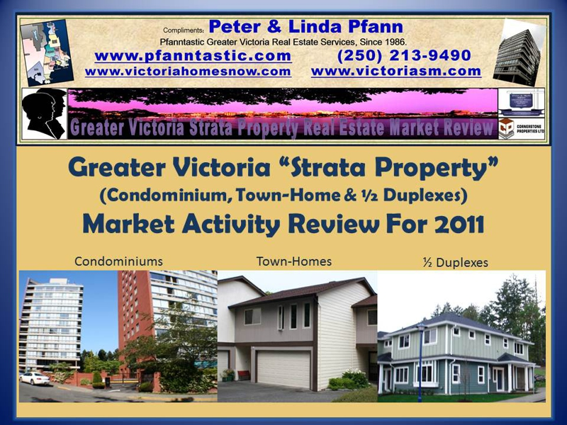 "Greater Victoria ""Strata Property""  Market Activity Review For 2011."