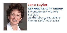 Contact Jane Taylor for all your Gaithersburg MD area real estate needs.