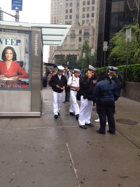Sailors at Columbus Circle