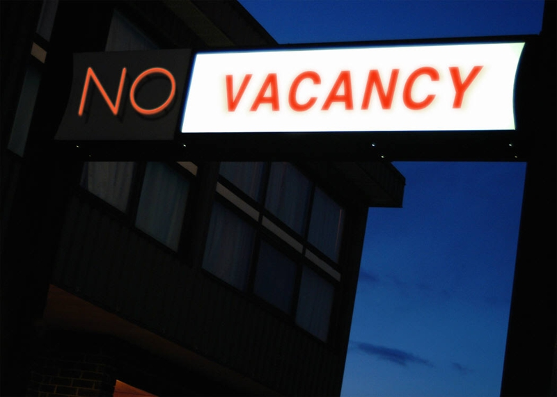 Picture of NO Vacancy sign