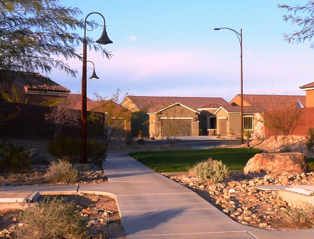 Walkway from Prairie Schooner to the Sun City mesquite Rec Center