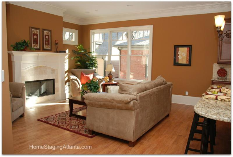 Home Staging Atlanta After Picture living room