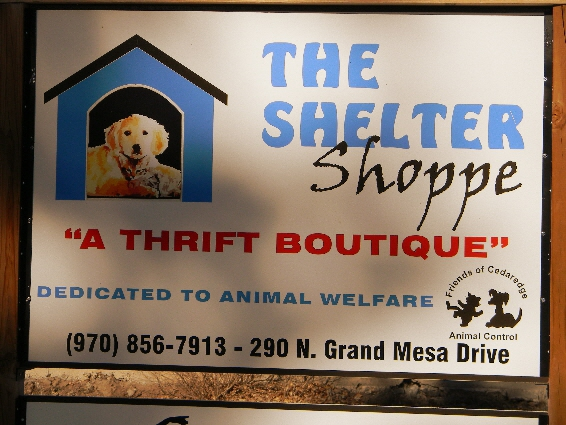 Cedaredge, CO Shelter Shoppe...Dedicated to Helping Local Animals