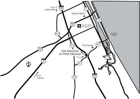 Directions to The Pavilion Center in Port Orange