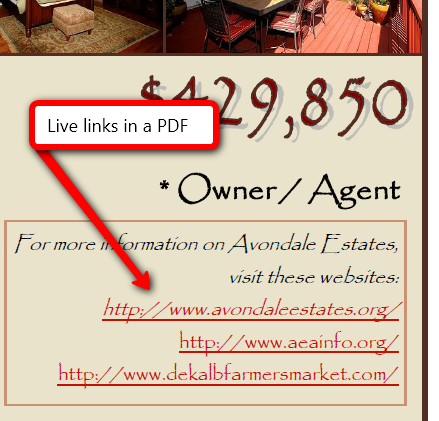 Live Links in a PDF