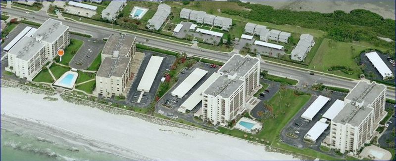 Aerial View Of South Beach Condos  On Sand Key