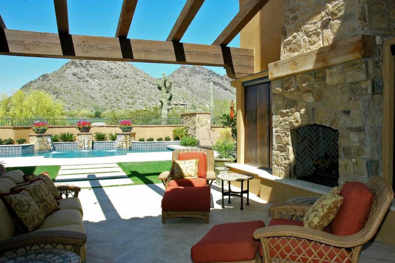 Outdoor Patio At DC Ranch Home