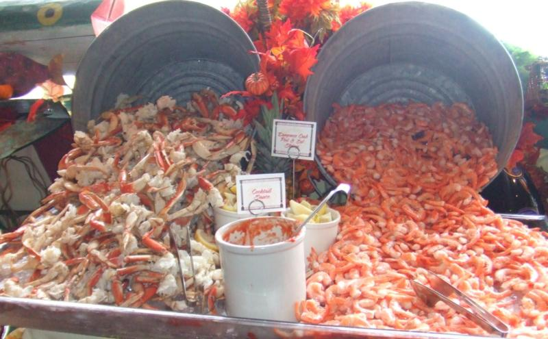Buckets of Crab and Shrimp by Jim Valentine