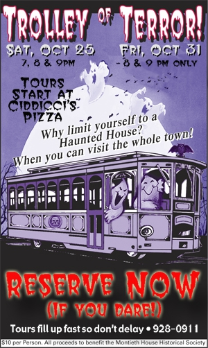 trolley of terror albany oregon poster
