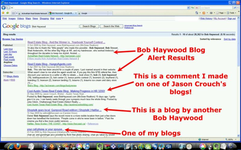 Google Search Term Results by Bob Haywood