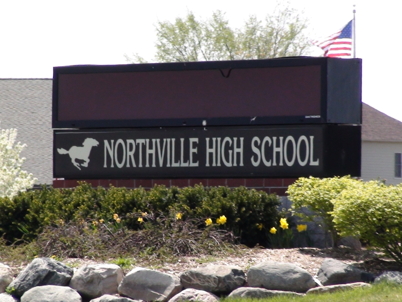 NORTHVILLE MICHIGAN HIGH SCHOOL SIGN