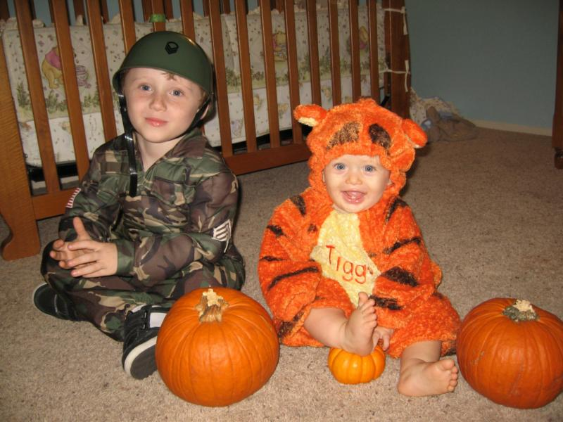 Halloween Tigger and Soldier