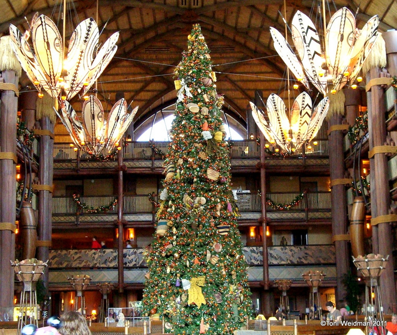 animal kingdom lodge disney world orlando the christmas trees of disney - The Christmas Lodge