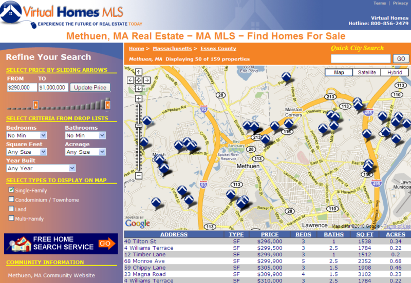 methuen ma mls map