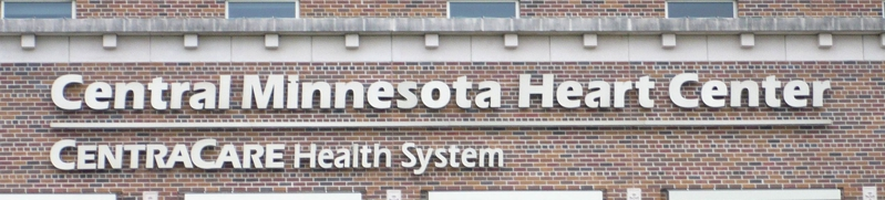 Central Minnesota Heart center sign