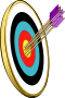 Bullseye with arrows