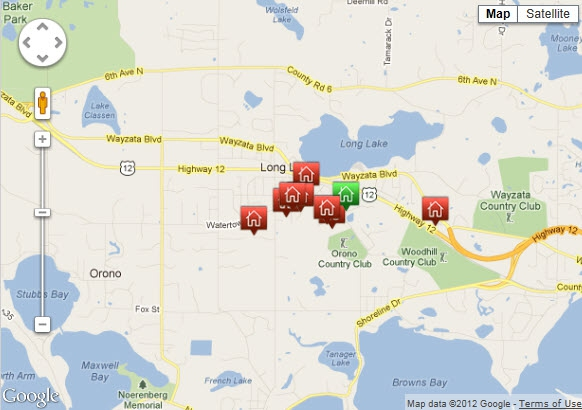CLICK ON THIS MAP TO SEARCH HOMES & REAL ESTATE IN LONG LAKE MN - CALL BROKER ERIC KODNER, WAYZATA LAKES REALTY 612.670.2539
