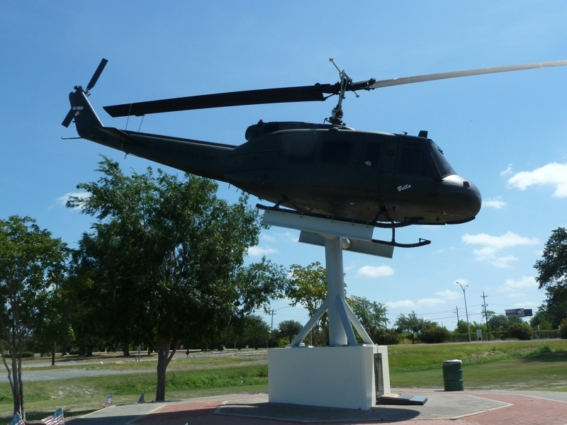 Heuy Helicopter in Veterans park Lake Charles