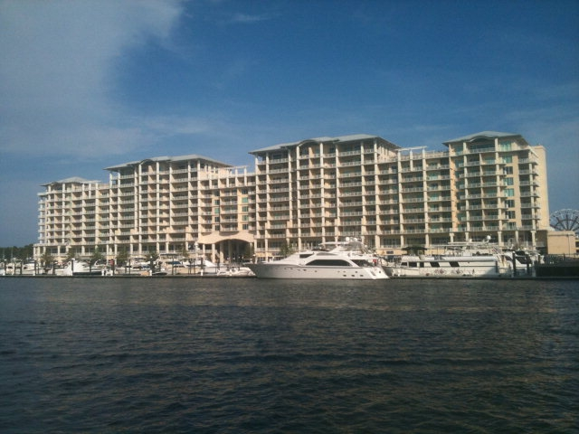 Inner Coastal Canal View of The Wharf Condos in Orange Beach