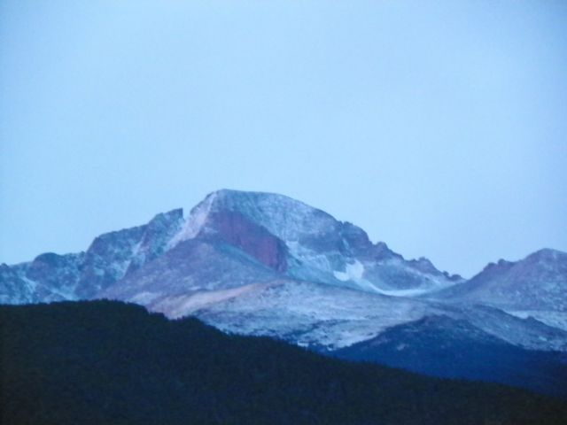 FRESH SNOW ON LONG'S PEAK