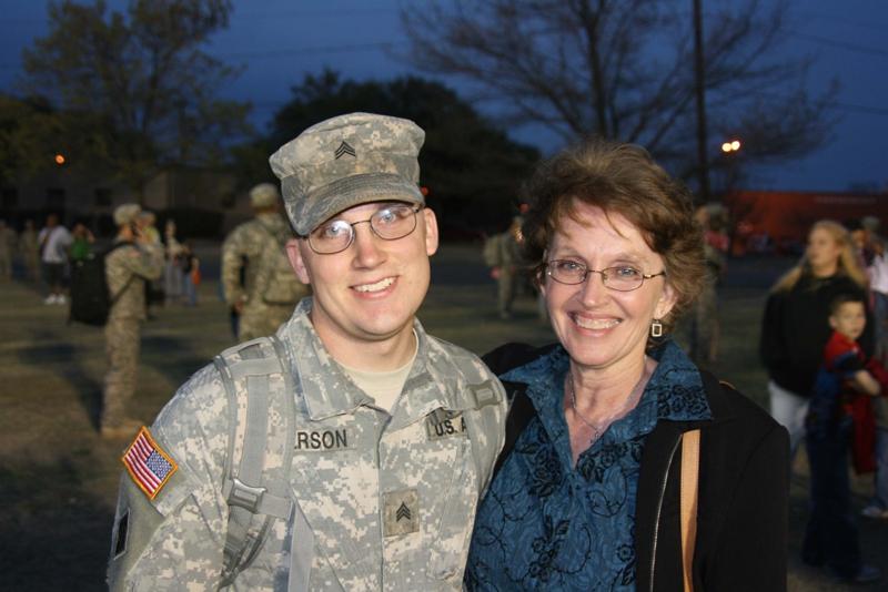 Welcome home from Iraq - Sergeant Tarren James Peterson 3-7-2009