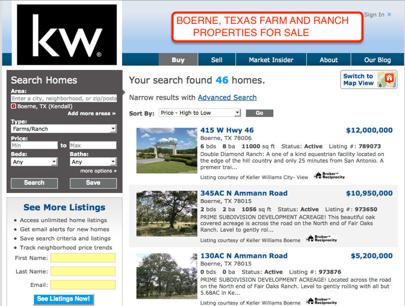 Boerne Farm and Ranch Property for Sale
