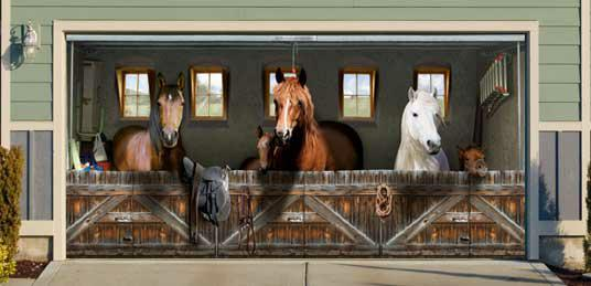 Stable horses in your garage!
