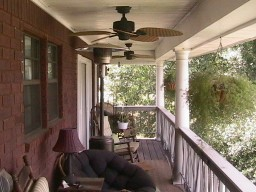 Huntsville TX Homes,  porch settin'