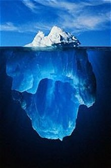 Faked pix of a whole iceberg