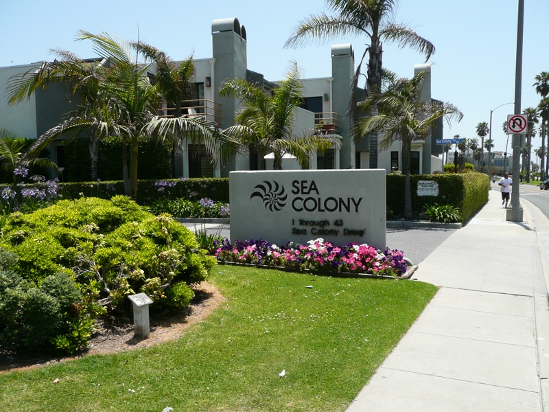 Sea Colony I Townhomes Entrance Santa Monica CA