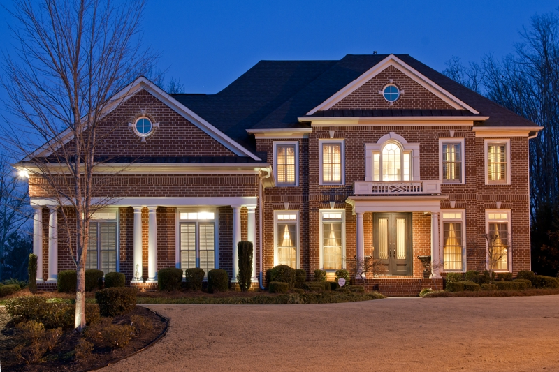 Twilight Front Exterior Of Homes For Sale Mableton GA Atlanta Real Estate Photography By Iran Watson